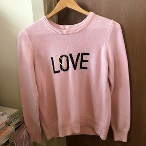 VS Light pink knit crew neck sweater